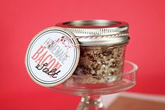 Bacon Salt - I DON'T eat bacon...but this would make the PERFECT gift for a few people in my life!