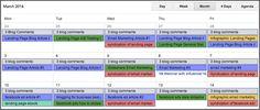How to create a content calendar for social media.