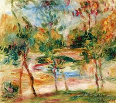 Pierre Auguste Renoir The Bridge At Villeneuve oil painting reproductions for sale