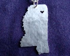Mississippi State Necklace... You can get the heart wherever you want it.