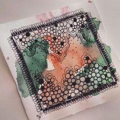 Bohemian Ink Studios on Etsy  Drawing, boho, zentangle, sketch, circles, watercolour and pen