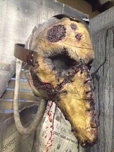 Plague doctor human skin mask