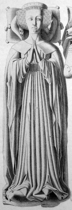 Effigy of Katharine de Stafford, Countess of Suffolk, 1415; St. Andrews Church, Wingfield, Suffolk