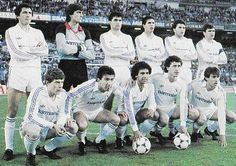 Real Madrid (Spagna) - winner 1985, 1986 Real Madrid History, Europa League, Football, Baseball Cards, Real Madrid Roster, Sports, Stencils, Soccer, American Football