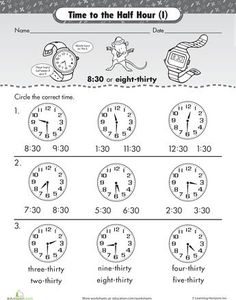 From identifying hours on an analog clock to finally learning calendars, this collection of worksheets cover learning time in varied ways. Creative word problems, colorful worksheets and simple clockwork give you options to engage your young learner. Teaching Time, Student Teaching, Math Classroom, Kindergarten Math, Math Measurement, 1st Grade Math, Second Grade, Math Lessons, Spanish Lessons