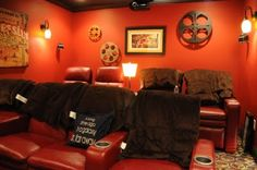 """Movie room for the """"average"""" home... doesn't cost thousands of dollars... but looks great!"""