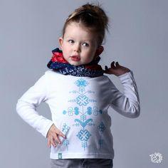 Detský nátelníček Gerlachovské kvieťa - biely | tričko suveníry Slovakia folklor výšivka | Slovakia Gift