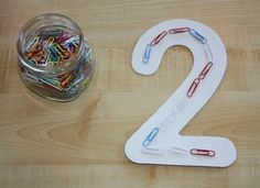 Creating Numbers (Tracing) with Paper Clips