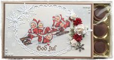 Chocolate Card, Christmas Cards, Decorative Plates, Scrap, Boxes, Frame, Ideas, Home Decor, Crates
