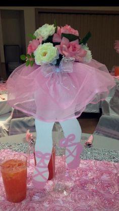 Home Design Ideas Tutu Centerpieces, Ballerina Centerpiece, Balloon Decorations, Ballerina Baby Showers, Baby Shower Princess, Ballerina Birthday Parties, Ballerina Party, Girl Baby Shower Decorations, Girl Decor