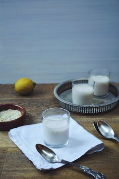 Dairy Free Lemon Panna Cotta with Lemon Sugar | Thyme & Honey