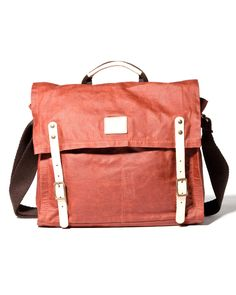 Metro Male's Pick: Will Leather Goods Wax Coated Messenger Bag Red