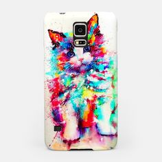 Samsung Galaxy S3 S4 and S5 phone case #cat #watercolour #phone #phonecases #samsung #samsunggalaxy Samsung Galaxy S3, Samsung Cases, Phone Cases, Watercolor Cat, Watercolor Design, Cat Quotes, Galaxies, Cat Lovers, Hero