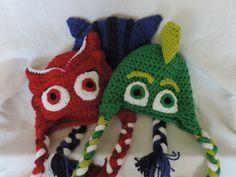 PJ Masks Crochet Inspired Hats Bundle by HammAndSmith on Etsy