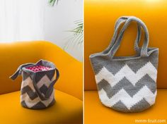 crochet chevron tote wish I knew how to crochet