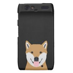 Indiana - Shiba Inu Dog Portrait Motorola Droid RAZR Cover