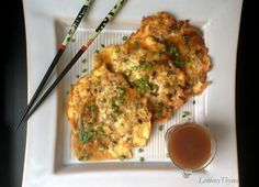 Egg Fu Yung.  So simple and easy to make at home with all the added MSG.