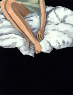 Floating . 5 x 7 giclee art print of acrylic painting