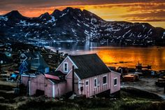 When sunrise and sunset coincide  #Angmassalik , Eastern Greenland