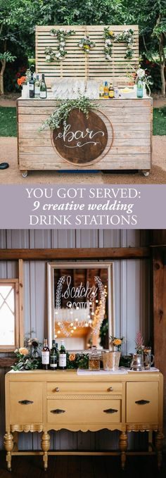 You Got Served: 9 Creative Wedding Drink Stations