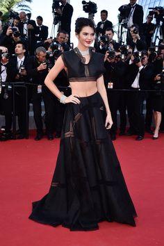 Kendall Jenner, in Azzedine Alaïa, with Chopard jewels