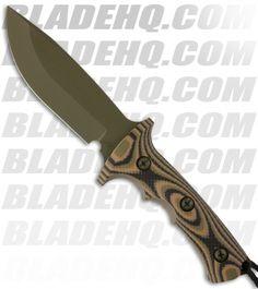 """Treeman Knives Combat Hunter Fixed Blade Knife Camo G10 (5.5"""" Plain)"""