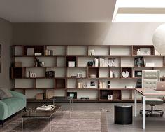 Bibliothèque modulable / murale / contemporaine / pour bureau E-WALL by Alberto Stella ESTEL