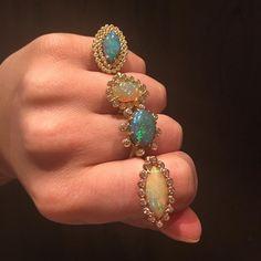 suzylandajewelryA fist full of opals