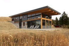 shipping container home u shaped with courtyard shed roof with loft ceilings - Google Search