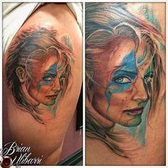 TTattoos: Denver Custom Ink  - art & tattoos by Brian Ulibarri. Denver, CO #brianulibarri #denvercustomink #realism  #surrealism #customdesigns #DenverTattooArtist #watercolor #paintedportrait #portraittattoo #vikingwomantattoo