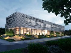 Architectural visualization for compettion of veterinary building