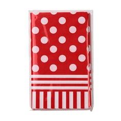 nappe-rouge-pois en papier 6,50€