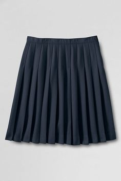 School Uniform Girls' Solid Pleated Skirt (Below The Knee) from Lands' End