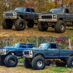 I actually prefer this finish color for this lifted 79 Ford Truck, Ford Ranger Truck, Ford Pickup Trucks, Truck Camper, Ford 4x4, Jeep Pickup, Pickup Camper, Truck Drivers, Custom Lifted Trucks