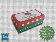 Thank your friends and family for helping at your shoebox packing party by handing out these adorable mini shoeboxes with treats inside! Simply print the designs on cardstock, cut them out and fold them. Mini Shoebox folding instructions are included! Digital Shoebox Packing Party Mini Shoebox by MadeCreatively