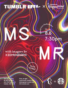 "irlirl: ""MS MR • Tumblr IRLFor years, MS MR has been using their Tumblr to show you what tickles their creative brains. It's as if you could look at it and know what their music sounds like. Well, MS..."