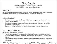 Senior Buyer Resume Chronological Resume Template 2  The Resume Info  Pinterest .