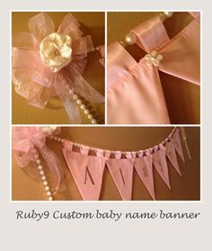Deb9 Creations Baby name banner/ it's all in the details.