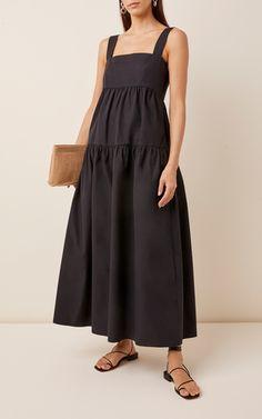Cosette Organic Cotton Poplin Maxi Dress by Three Graces London Modest Fashion, Fashion Outfits, Summer Outfits, Summer Dresses, Poplin Dress, Mode Hijab, Tiered Dress, Cotton Dresses, Designer Dresses