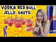 How to make Vodka Red Bull Jello Shots - Tipsy Bartender - YouTube