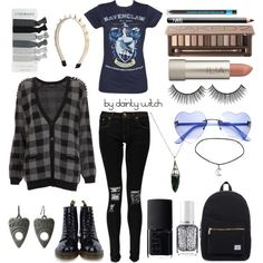 Represent Your House  #polyvore #girly #preppy #prettypastels #pretty #pastel #softgrunge #grunge #tumblr  #edgy #punk #nugoth #gothgoth
