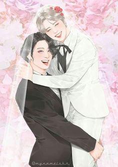 Jimin Fanart, Yoonmin Fanart, Foto Jimin, Jimin Jungkook, Namjin, Twilight Quotes, Vkook, Cute Gay Couples, Cute Chibi
