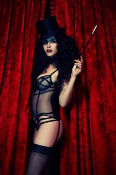 Burlesque. Another simple look that is still very well done. I have the cigarette holder.