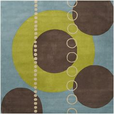 Large and Small Circle Forum Rug