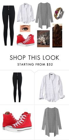 """""""This is Only the Beginning"""" by amanda-gail on Polyvore featuring New Look, Banana Republic, Converse and Emma Chapman"""