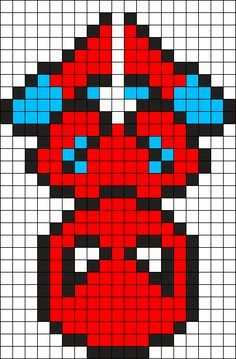 Spiderman Perler Bead Pattern / Bead Sprite