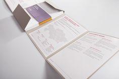 Национальная горнорудная компания «Тау-Кен Самрук», готовясь к участию в международной выставке, обратилась к нам за разработкой своего фирменного каталога.  Главные требования: сдержанный европейский стиль и общая строгость исполнения. Результатом работы стала папка, в которую собирался весь портфель объектов, разрабатываемых компанией, заботливо разбитых по разным направлениям. Tau-Ken Samruk by fingers, via Behance