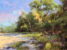 Pastel Landscape, Watercolor Landscape Paintings, Abstract Landscape, Watercolor Pictures, Pastel Art, Pastel Drawing, Impressionist Art, Small Paintings, Cool Landscapes