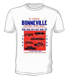 Dragstrip Clothing Men Bonneville Speed Trials Biker Hot Rod Rockabilly T`Shirt