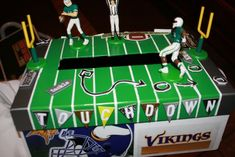 Football themed Valentine box